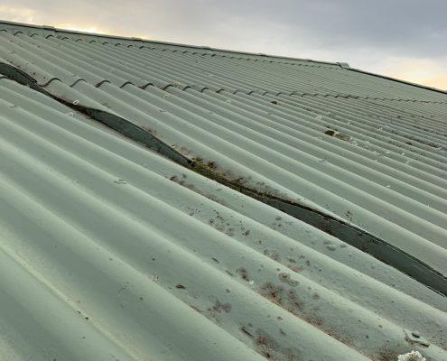 Asbestos sheet roof