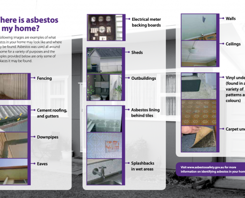 Where is asbestos in the home